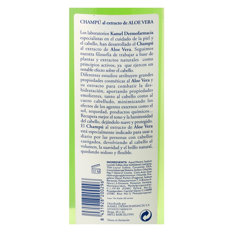 Champú al extracto de aloe vera para cabellos castigados -