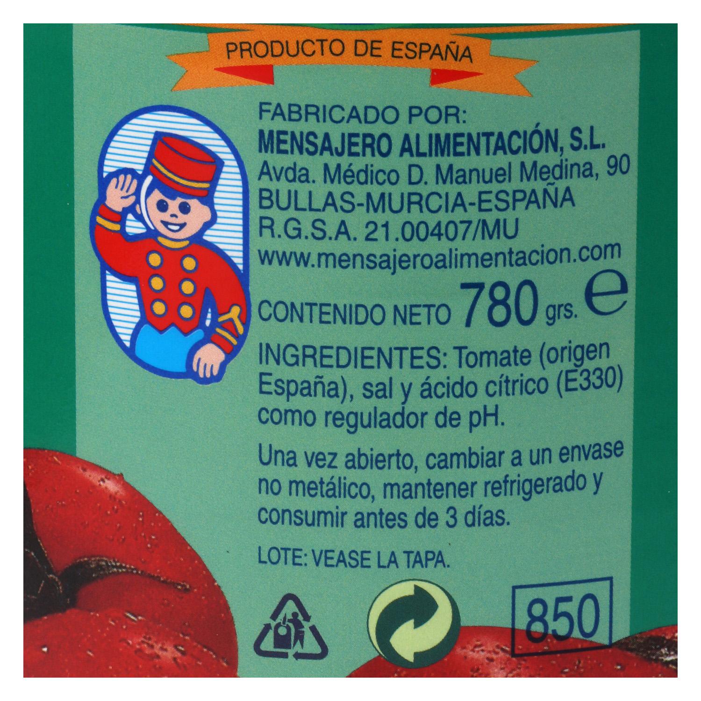 Tomate natural triturado Mensajero 1 kg. - 2