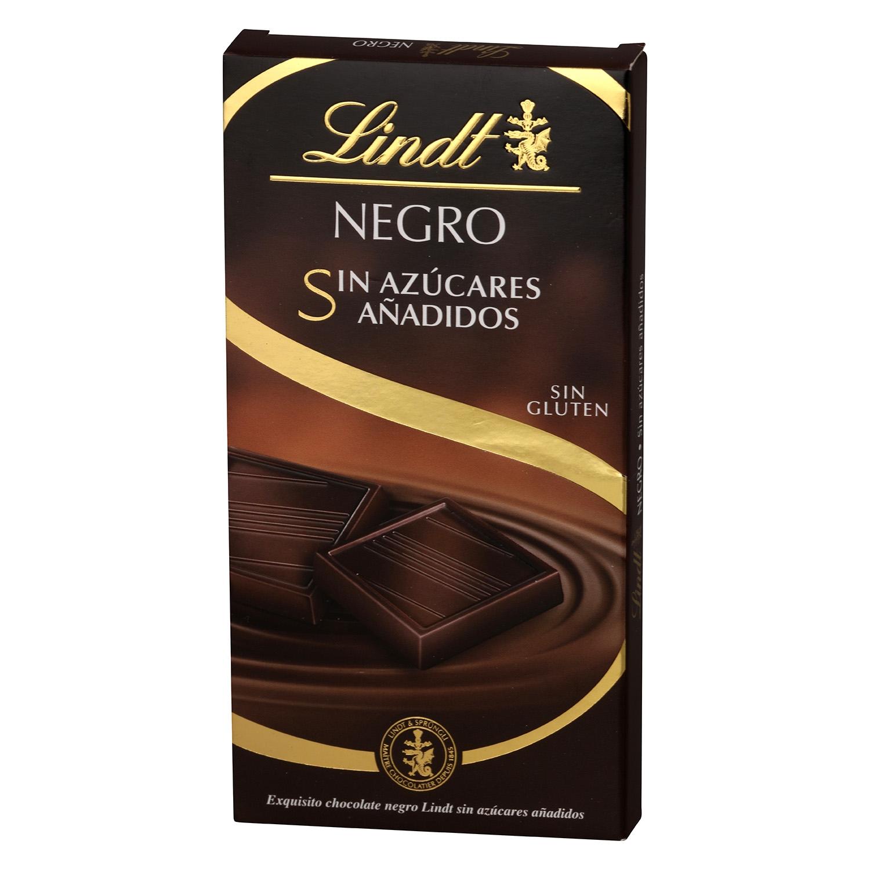 Chocolate negro sin azúcar añadido Lindt sin gluten 100 g.