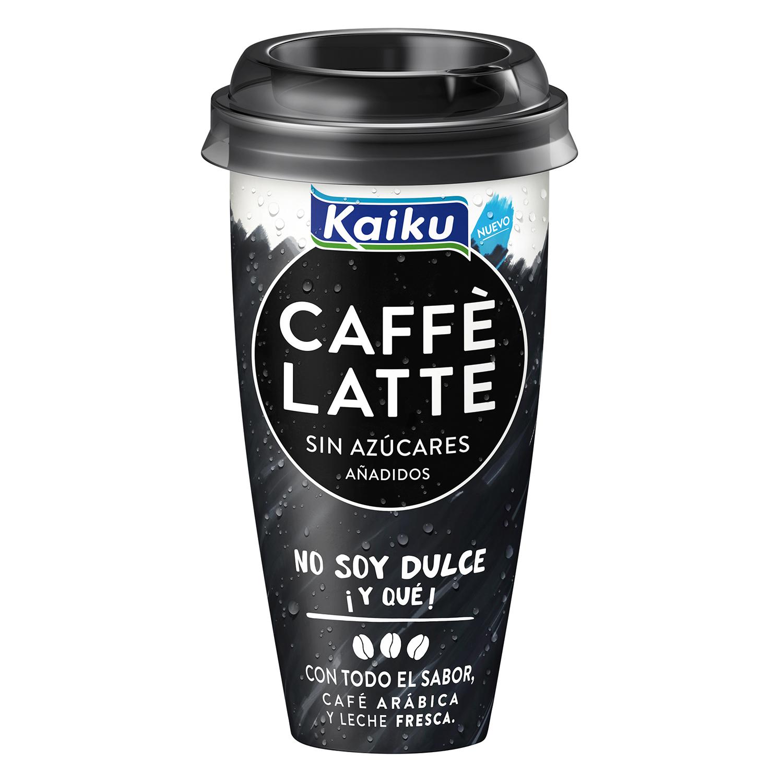 Café latte sin azúcares añadidos Kaiku 230 ml.