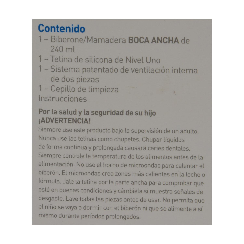 Biberón boca ancha 240 ml. Rosa Dr. Brown´s 1 ud. - 2