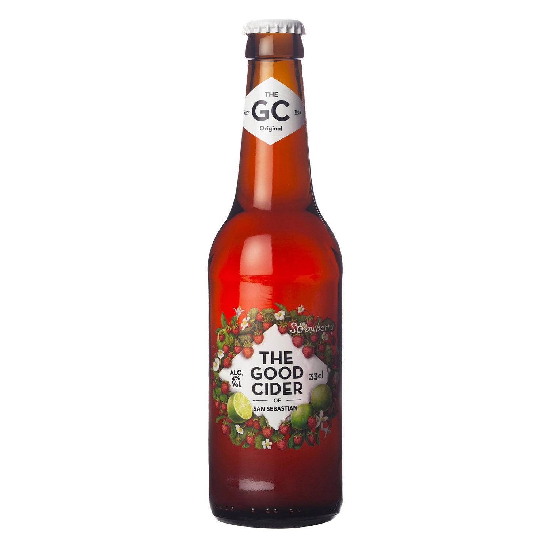 Sidra The Good Cider sabor fresa 33 cl.