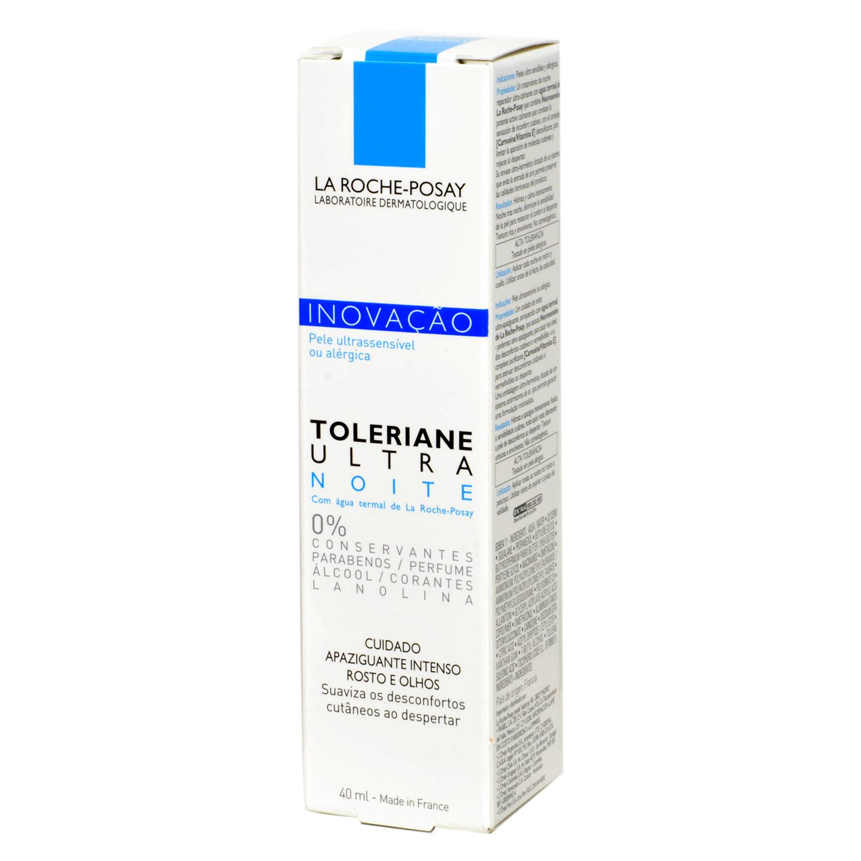 Crema Toleriane Ultra noche para rostro y ojos La Roche-Posay 40 ml.