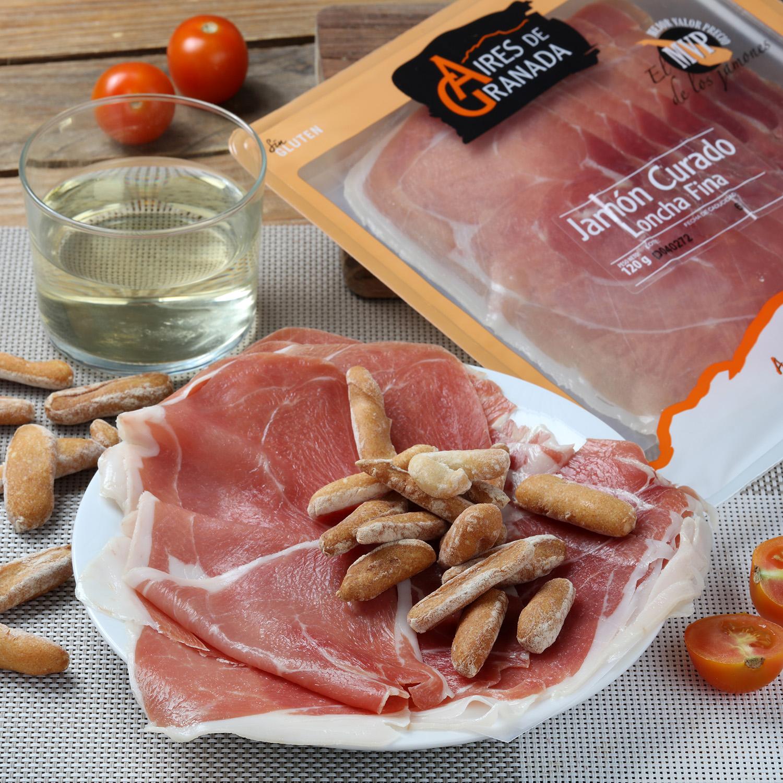 Jamón curado loncha fina Aires de Granada 120 g
