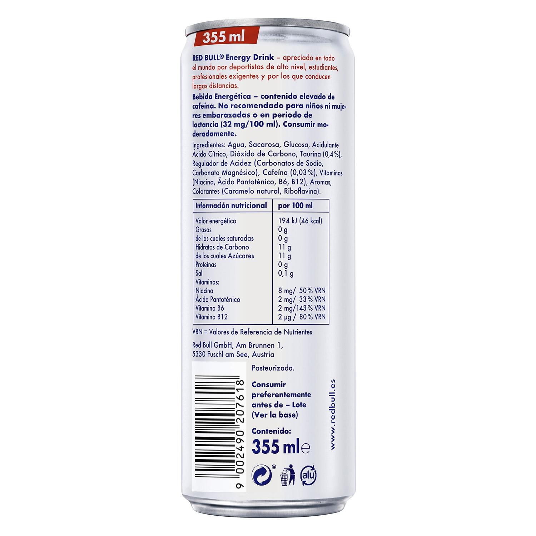 Bebida energética Red Bull pack de 4 latas de 35,5 cl. - 2