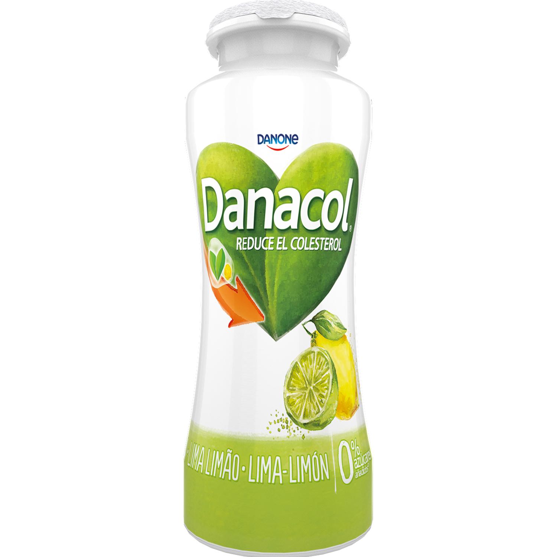 Yogur líquido de lima-limón Danone Danacol pack de 6 unidades de 600 g. - 2