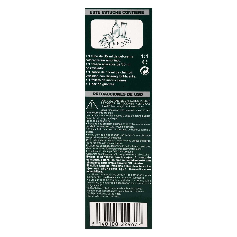 Gel crema colorante nº 10 Negro - 2