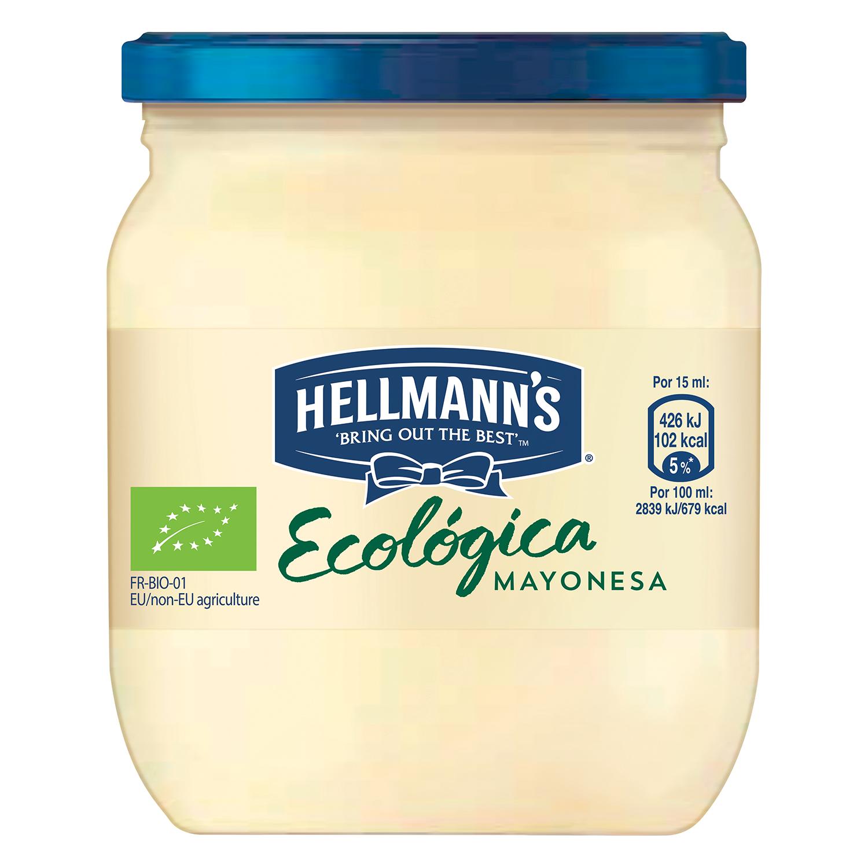 Mayonesa ecológica Hellmann's tarro 90 ml.