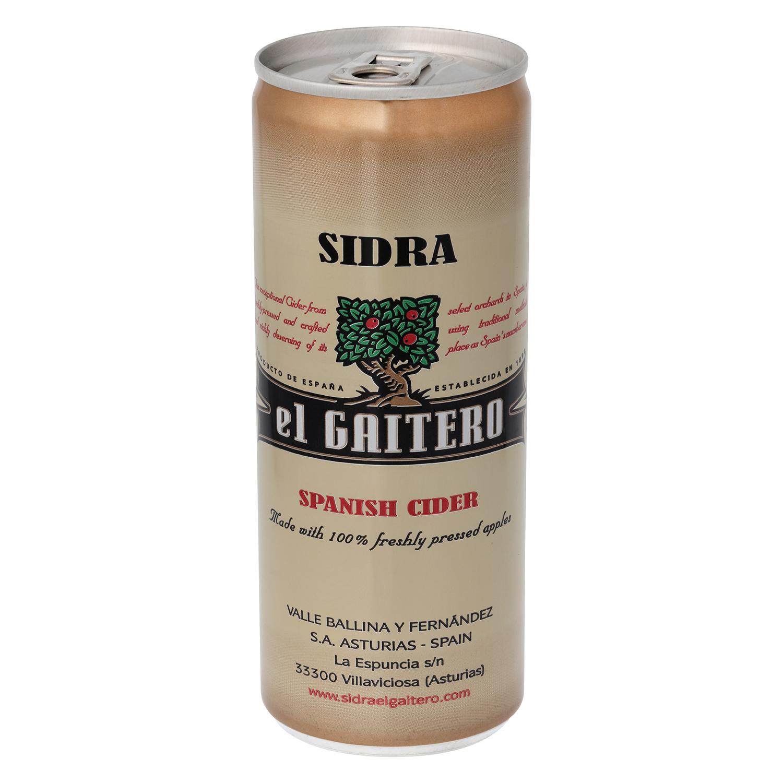 Sidra El Gaitero  achampanada lata 25 cl.