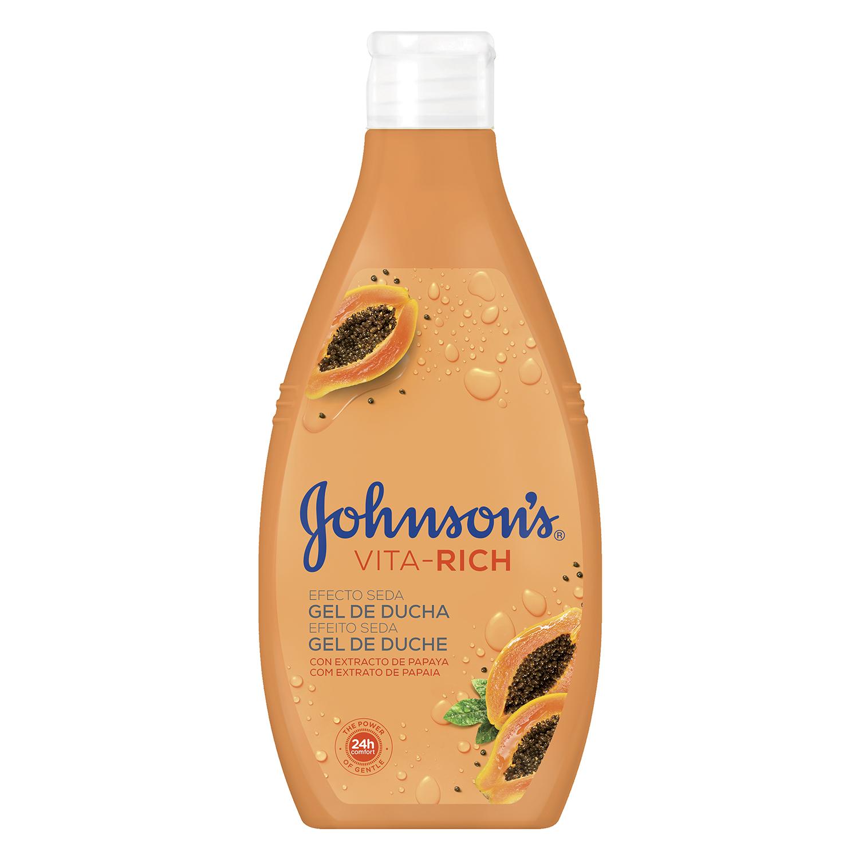 Gel de ducha Vita-Rich efecto seda con extracto de papaya Johnson's 750 ml