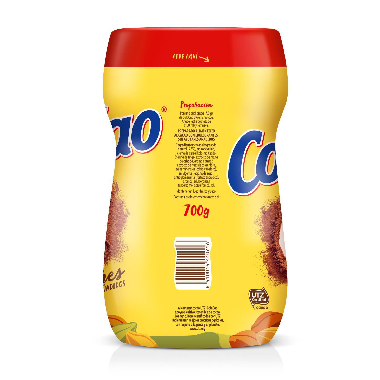 Cacao solubkle 0% azúcares añadidos Cola Cao 700 g. -