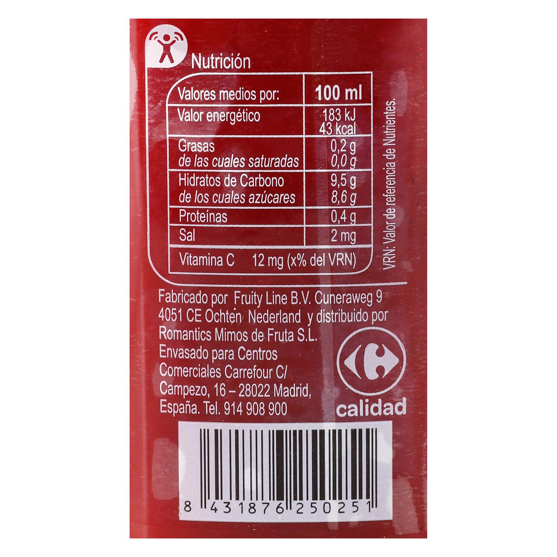 Zumo de manzana y frutos del bosque Carrefour botella 25 cl. - 2