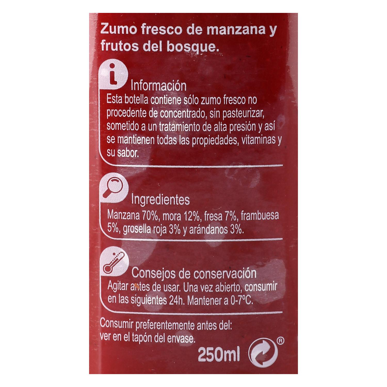 Zumo de manzana y frutos del bosque Carrefour botella 25 cl. -