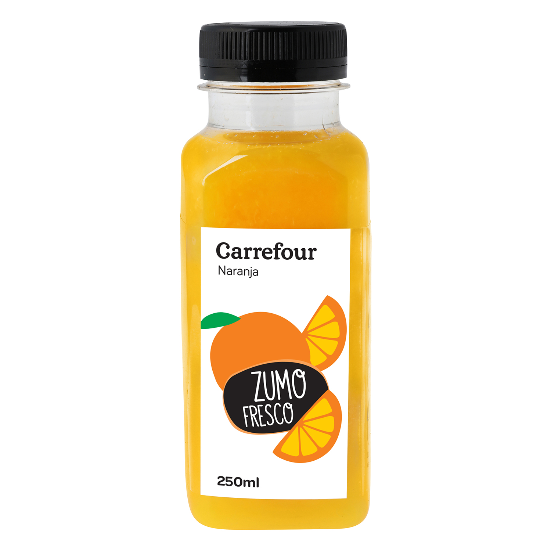 Zumo de naranja Carrefour botella 25 cl.