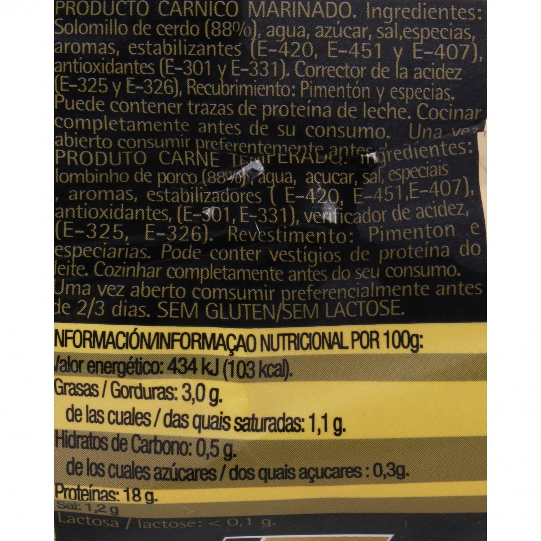 Solomillo de Cerdo Adobado Extratierno El Pozo 500 g - 3