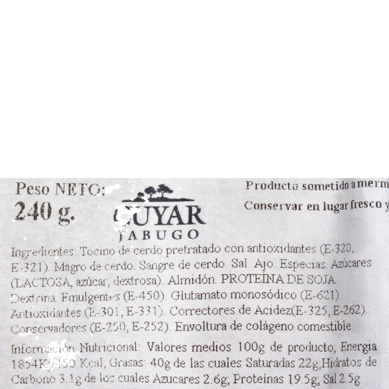 Morcillita ibérica Embutidos Jabugo Cuyar (2x120g)  240 g - 3
