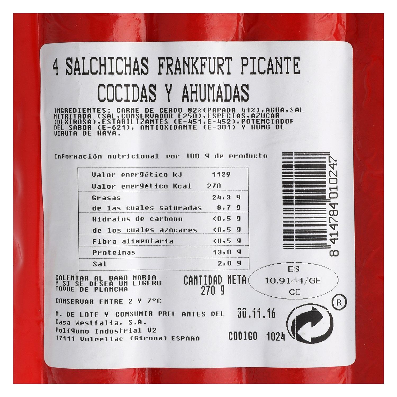 Salchichas Frankfurt picante -