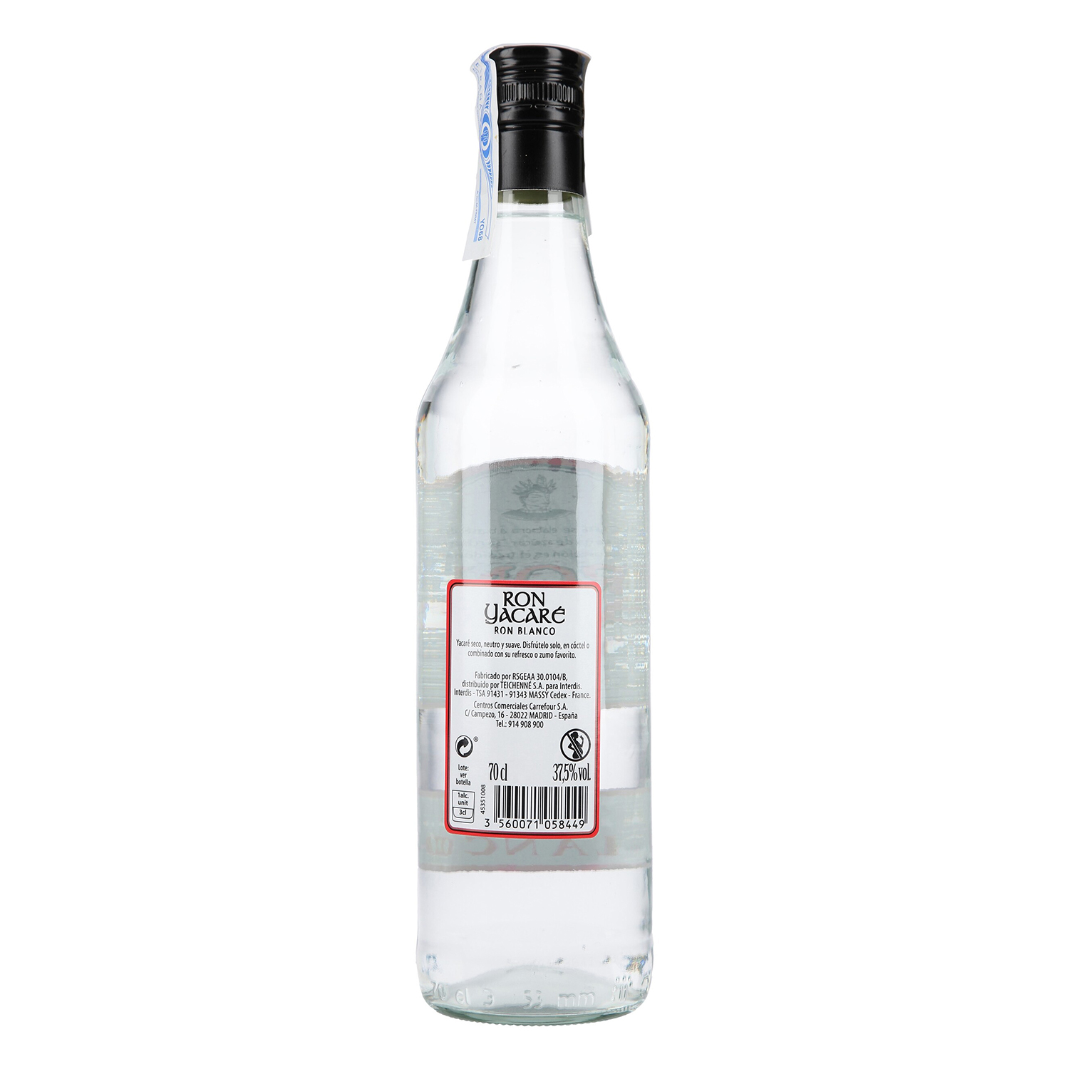 Ron Yacaré carta blanca 70 cl. -