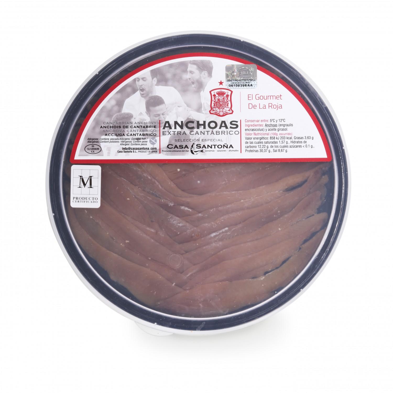 Lomos de anchoas extra del Cantábrico, Casa Santoña 220 g