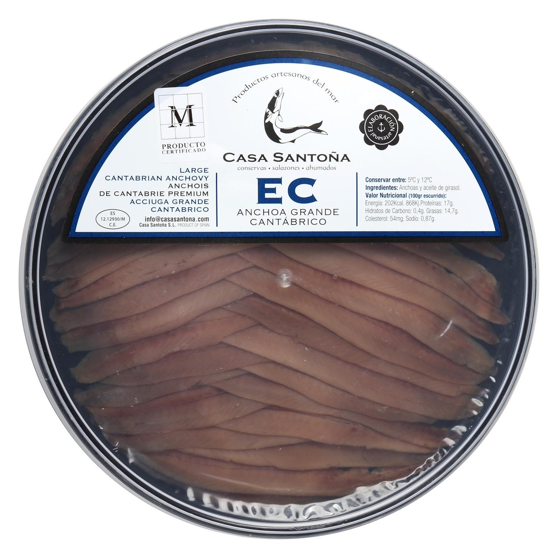 Lomos de anchoas extra del Cantábrico, Casa Santoña 220 g - 2