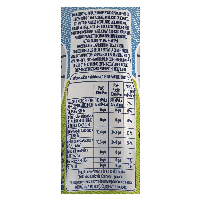 Agua San Pellegrino con gas sabor pomelo 33 cl. -
