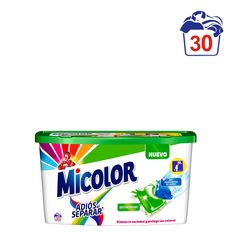 Detergente adiós al separar en cápsulas Micolor 30 ud.