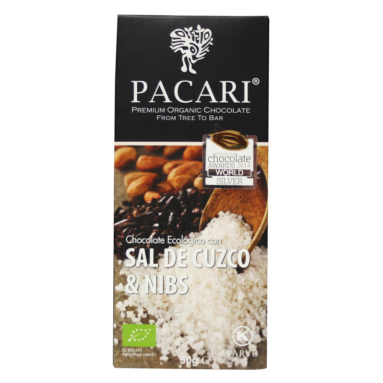 Chocolate con sal de cuzco & nibs