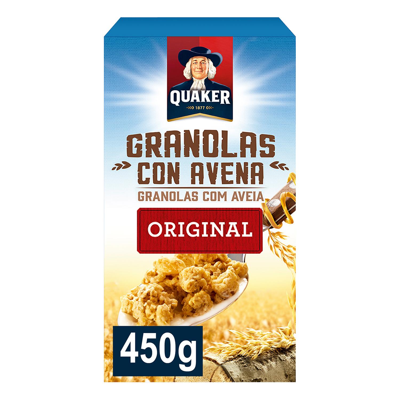 Cereales granolas de avena Quaker 450 g.
