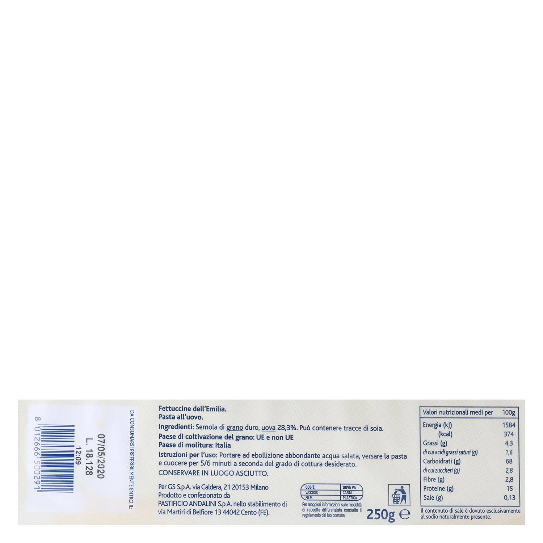 Fettuccine Terre d'Italia 250 g. - 2