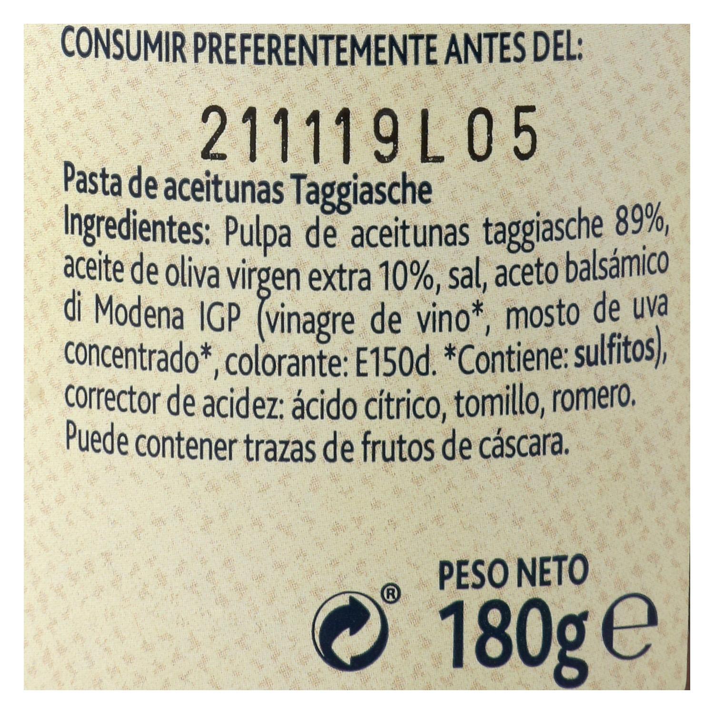 Paté de olive Taggiasche Terre d'Italia 180 g. - 2