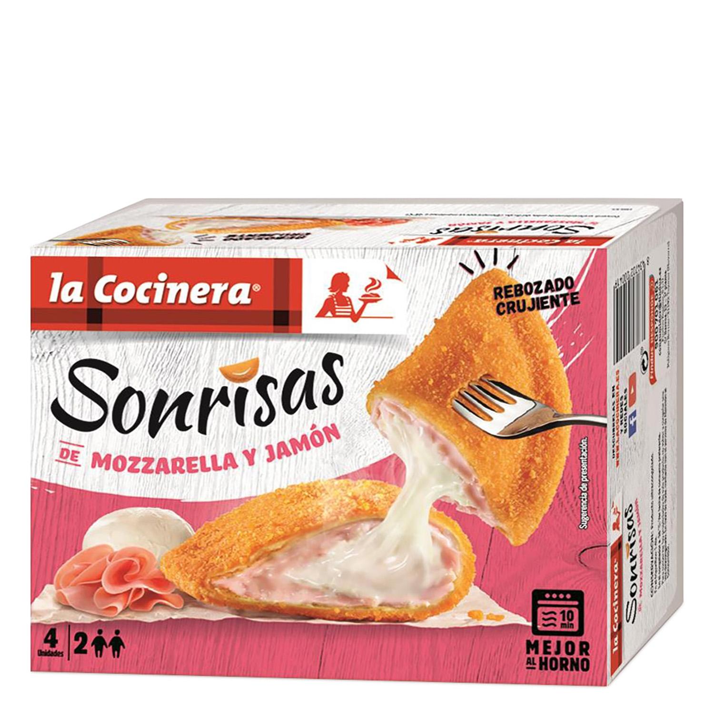 Sonrisas de mozzarella y jamón La Cocinera 266 g.