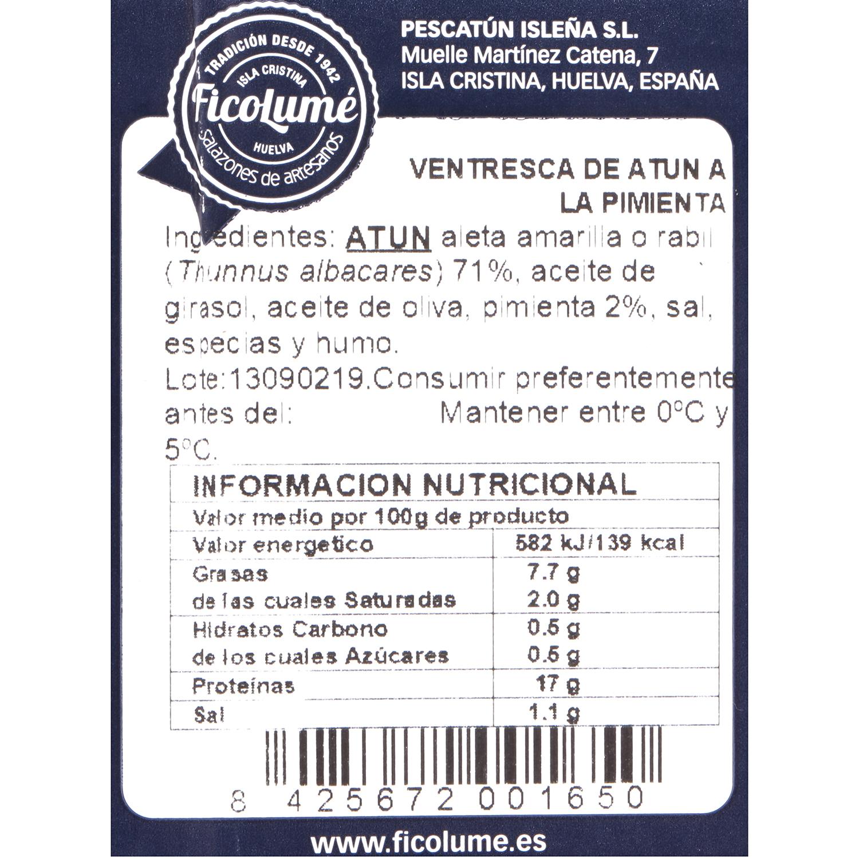 Ventresca de atun a la pimienta 80 g - 4