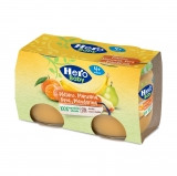 Pack Tarritos Hero Baby Mandarina, Plátano y Pera Williams 2x120 gr