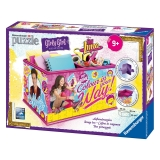 Ravensburger - Puzzle 3D Girly Girl Soy Luna  Cofre 216 Piezas