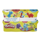 Hasbro - Playdoh Pack 4 + 4 Botes