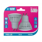 Pack de 2 Bombillas Led GU10 8W Fría