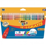 Pack de 24 Rotuladores de Color Bic Kid