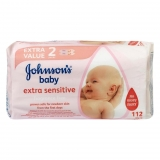 Toallitas Sensitive Johnson´s Baby 112 unidades (2 packs de 56 toallitas = 112 toallitas)
