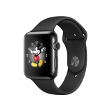 Apple Watch Series 2 Caja de 42 mm de Acero Inoxidable Negro Espacial  y Correa Deportiva Negra