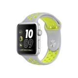 Apple Watch Nike + Caja de 38 mm de Aluminio Color Plata con Correa Deportiva Nike Color Plata Mate/Voltio