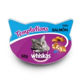 Snacks para Gatos Whiskas Temptations Salmón 60 gr