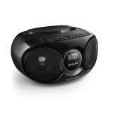 Radio CD Philips AZ318B/12 - Negro
