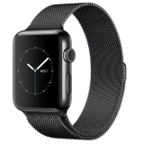 Apple Watch 38mm (1º gen) con Caja Negra con Correa Milanese Negra