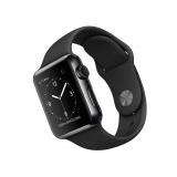 Apple Watch 38mm (1º gen) con Caja de Acero Inoxidable en Negro y Correa Sport Negro