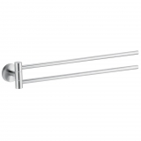 Toallero doble de Metal CARREFOUR HOME   6,3cm  - Metalizado
