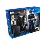 PS4 1TB con the Last For Us + Uncharted 4. Negro
