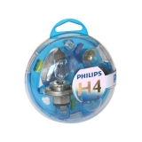KIT  ESTUCHE 5 LÁMPARAS PHILIPS ESSENTIAL H4