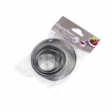 5 Aros de Acero inoxidable  CARREFOUR HOME Specifique 8,3cm. - Inox