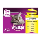 4 Pack Whiskas Casserole +1 Aves