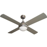 VENTILADOR DALLAS CROMADO LED